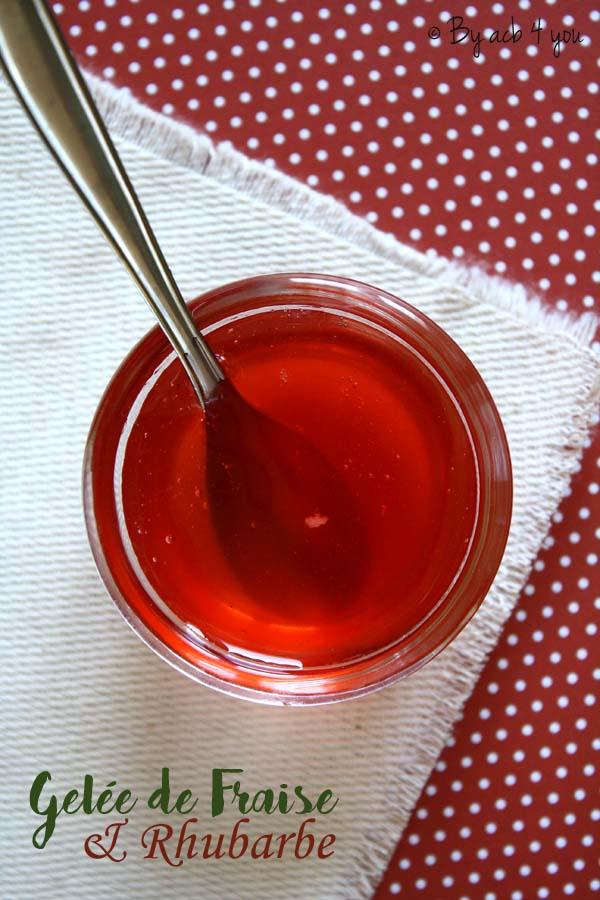 Gelée fraise rhubarbe