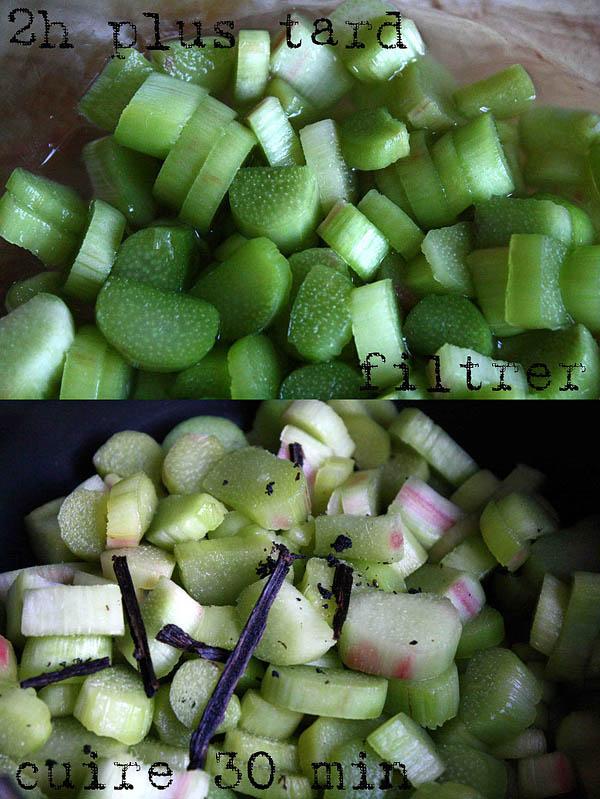 Tarte à la rhubarbe meringuée, fondante et crémeuse