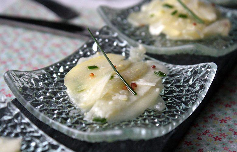 Carpaccio d'asperges au parmesan