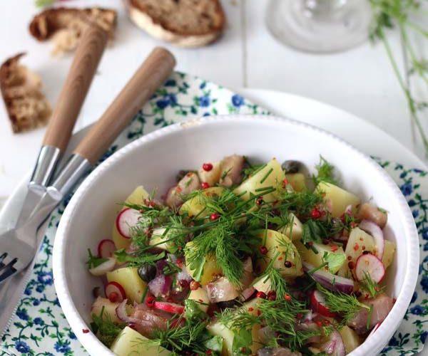 Salade de hareng fumé aux pommes de terre