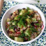 Salade de hareng fumé aux deux pommes