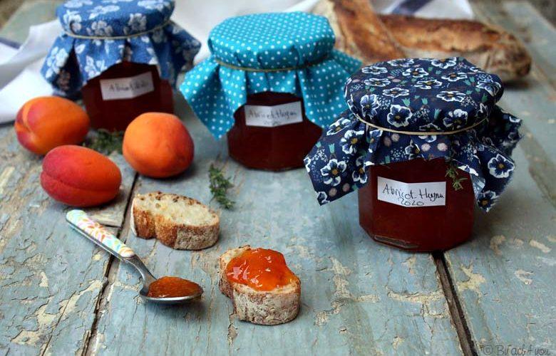 Confiture d'abricot et thym