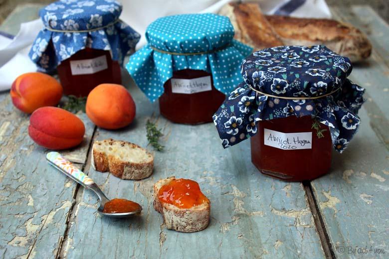 Confiture d'abricot au thym