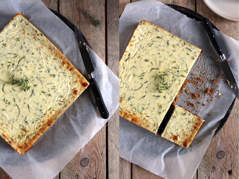 Cheesecake au thym et courgette