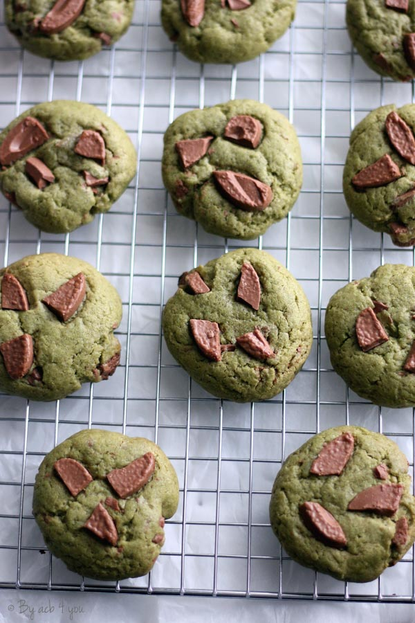 Cookies matcha chocolat au lait