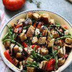 Salade de haricots verts aux croûtons