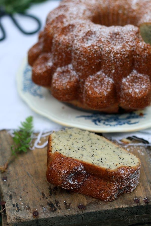 gâteau citron et pavot sans lactose
