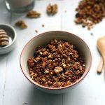 Granola miel, noix et graines de lin