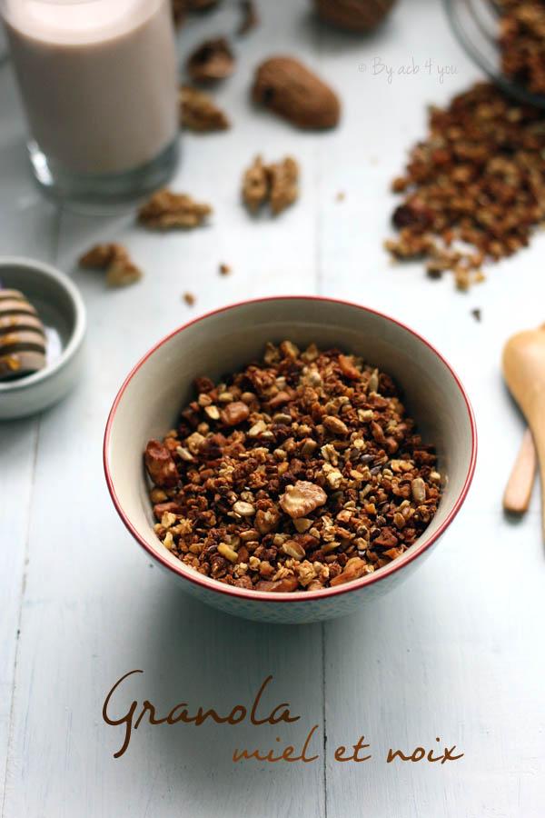 Granola miel et noix
