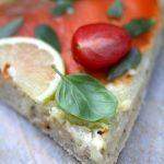 Pizza bianca à la truite fumé, fenouil et basilic