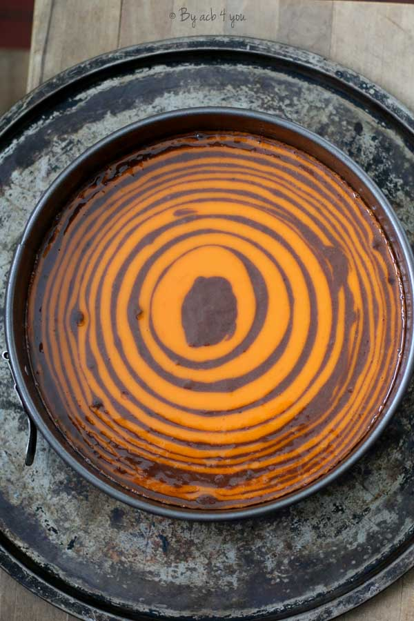 Zebracake à la vanille, glaçage rocher pour Halloween