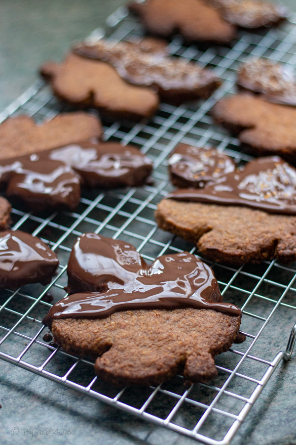 Biscuits de Noël au sarrasin et chocolat