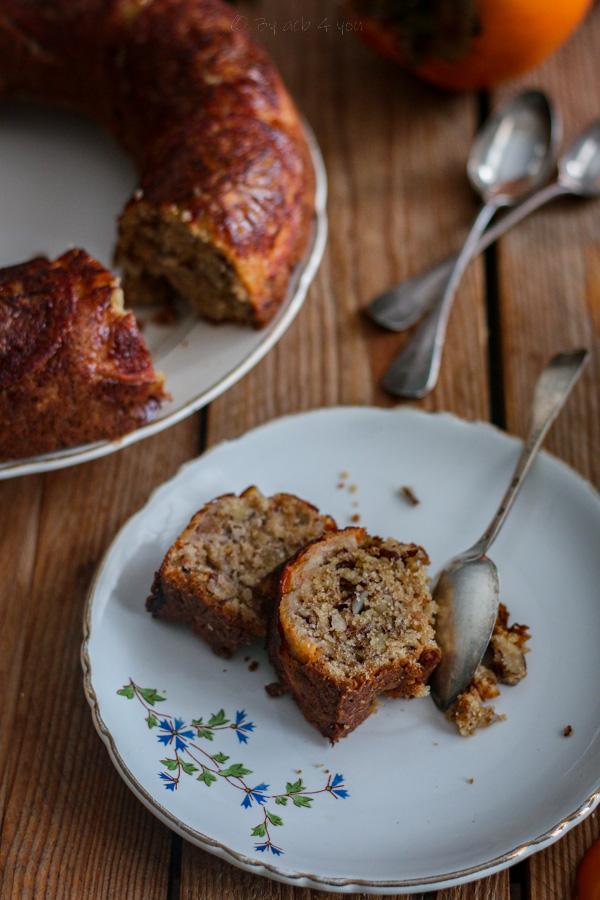 Gâteau aux amandes et kakis