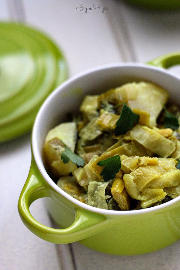 Curry de poireaux et pommes de terre