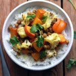 Légumes d'automne rôtis au curry