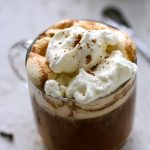 Pumpkin coffee with spice