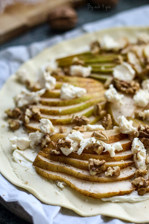 Tarte poire gorgonzola et noix