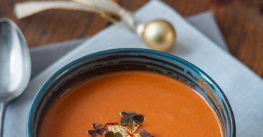 Soupe veloutée aux crevettes