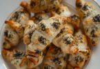 croissants feuilletés au saumon et pavot
