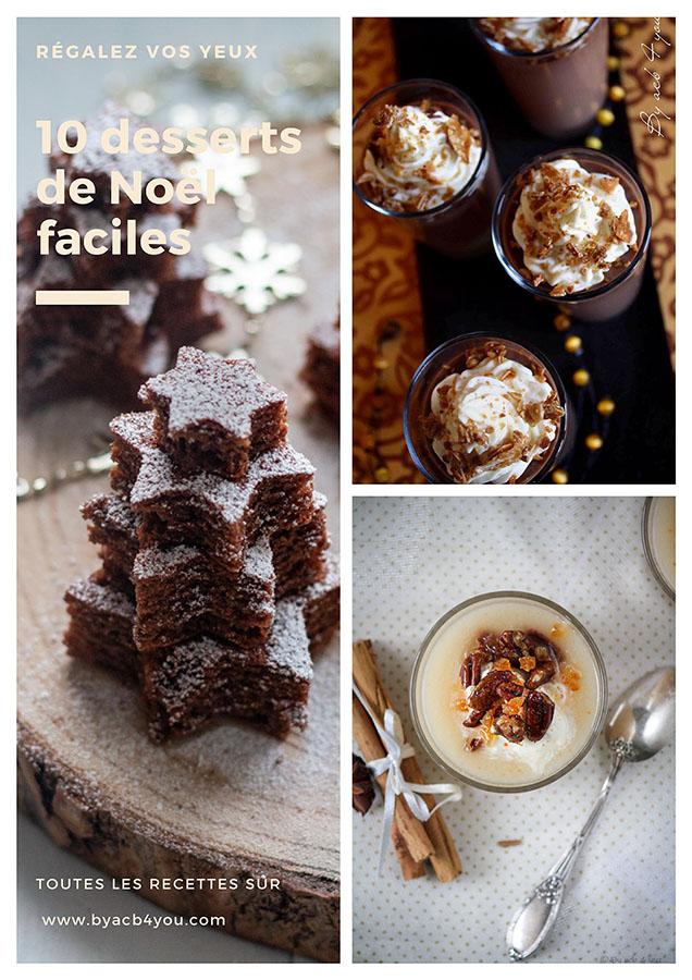 Dix recettes de desserts de Noël faciles