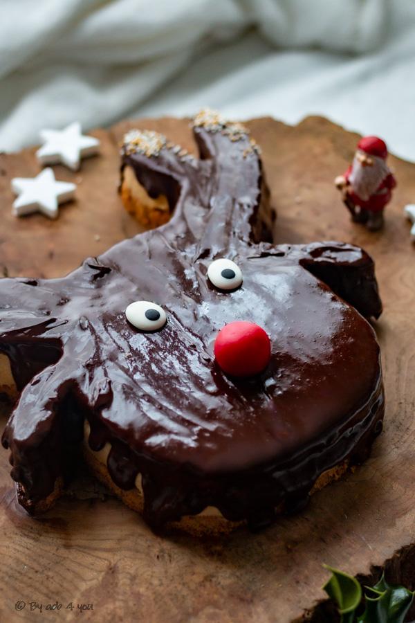 Gâteau Rudolph, pécan, caramel beurre salé et chocolat