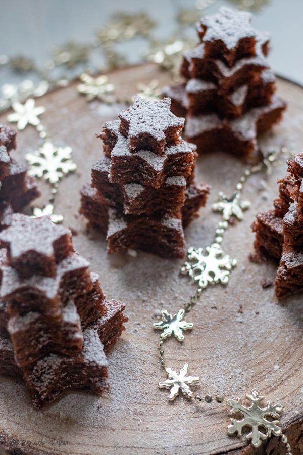 Sapin moelleux chocolat et noix