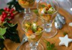 Tartare de crevettes au kaki, citron vert et aneth