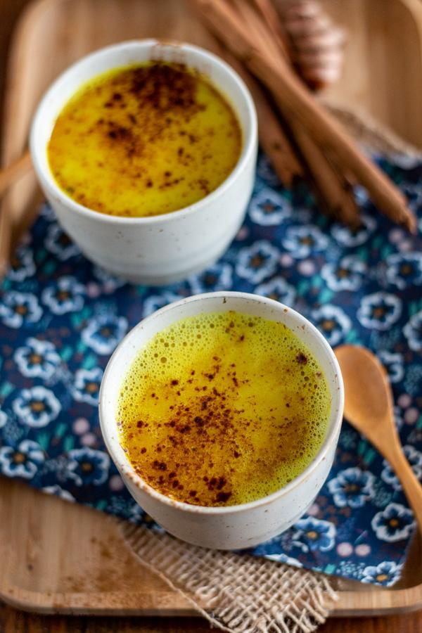 lait d'or au curcuma et gingembre