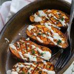 Patates douces rôties au thym au four