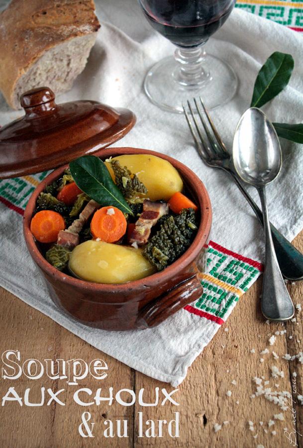 Soupe au chou vert et au lard