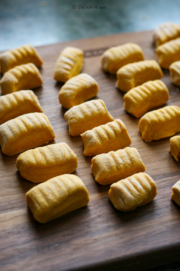 Gnocchis de potimarron poêlés au beurre de thym