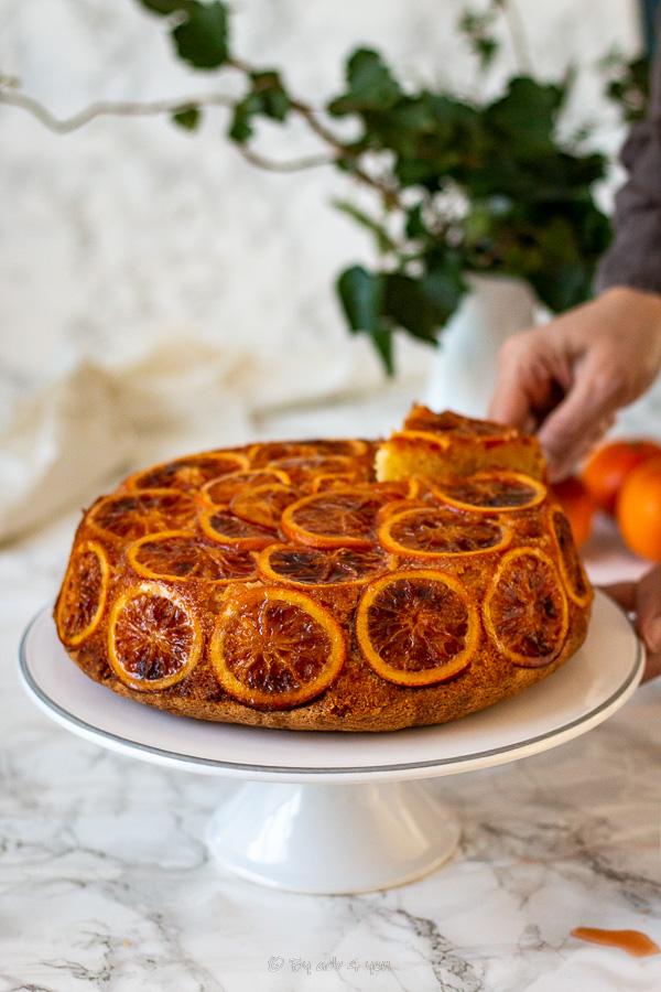 Gâteau à l'orange sanguine et amande
