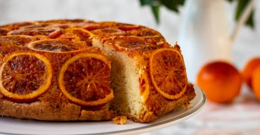 Gâteau à l'orange sanguine