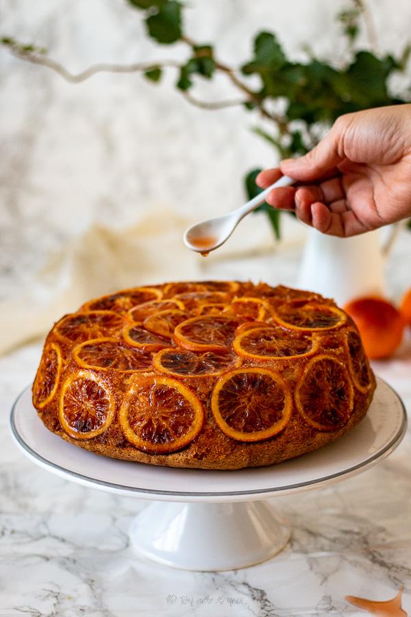 Gâteau à l'orange sanguine