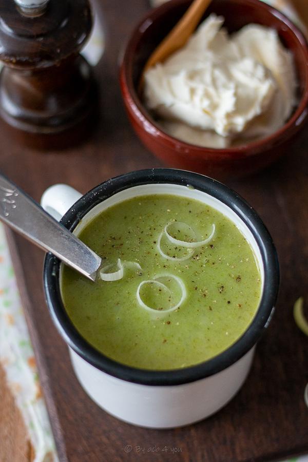 soupe poireaux pommes de terre à la crème
