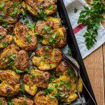 Pommes de terre tapées ail persil