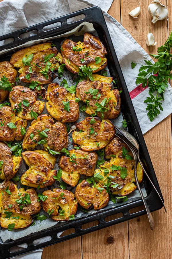 Pommes de terre tapées persil