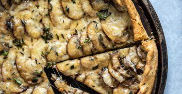 tarte rustique aux champignons