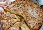 Gâteau streusel à la rhubarbe