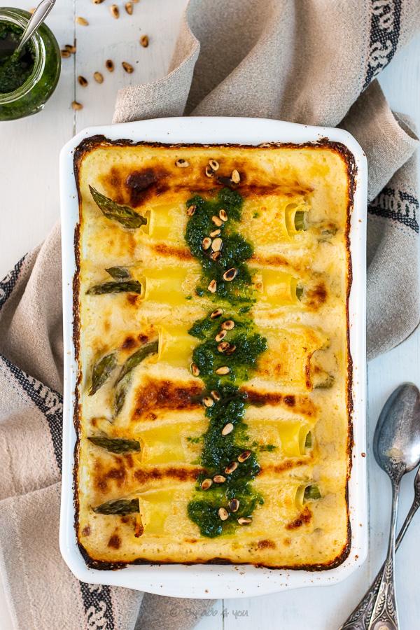 cannelloni d'asperges vertes