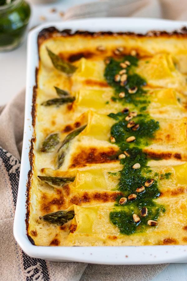 Cannelloni d'asperges vertes et Appenzeller