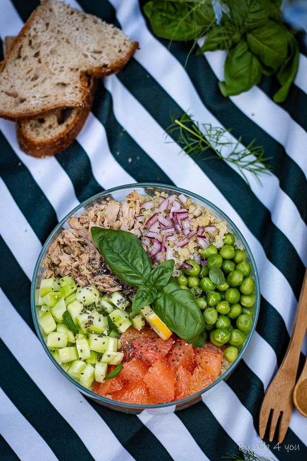Salade composée au thon façon poké