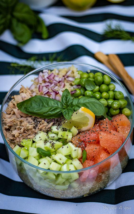 Salade composée vitaminée au thon et basilic