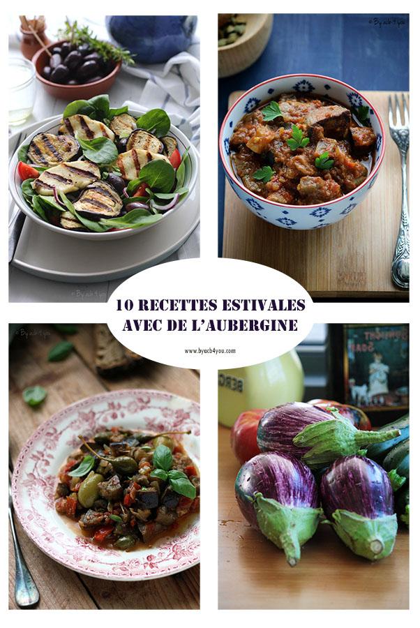 10 recettes estivales avec de l'aubergine