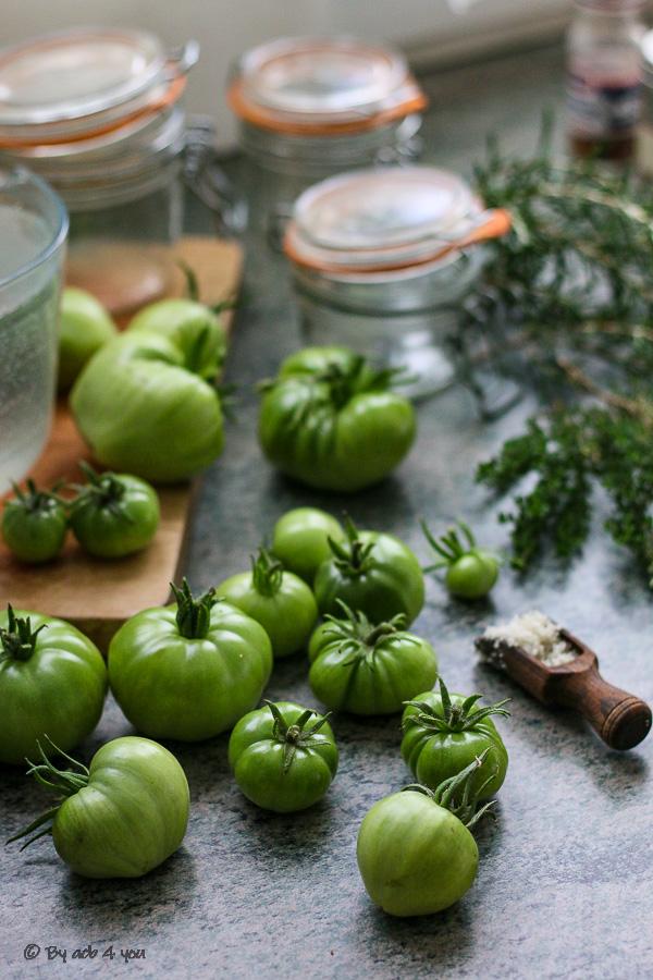 Pickles de tomates vertes ou tomates lactofermentées