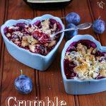 Crumble prunes et amandes