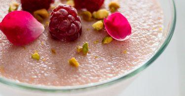 Semoule au lait, fleur d'oranger pour octobre rose