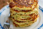Pancakes courgette et mozzarella
